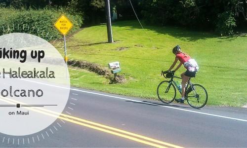 Biking up the Haleakala volcano on Maui