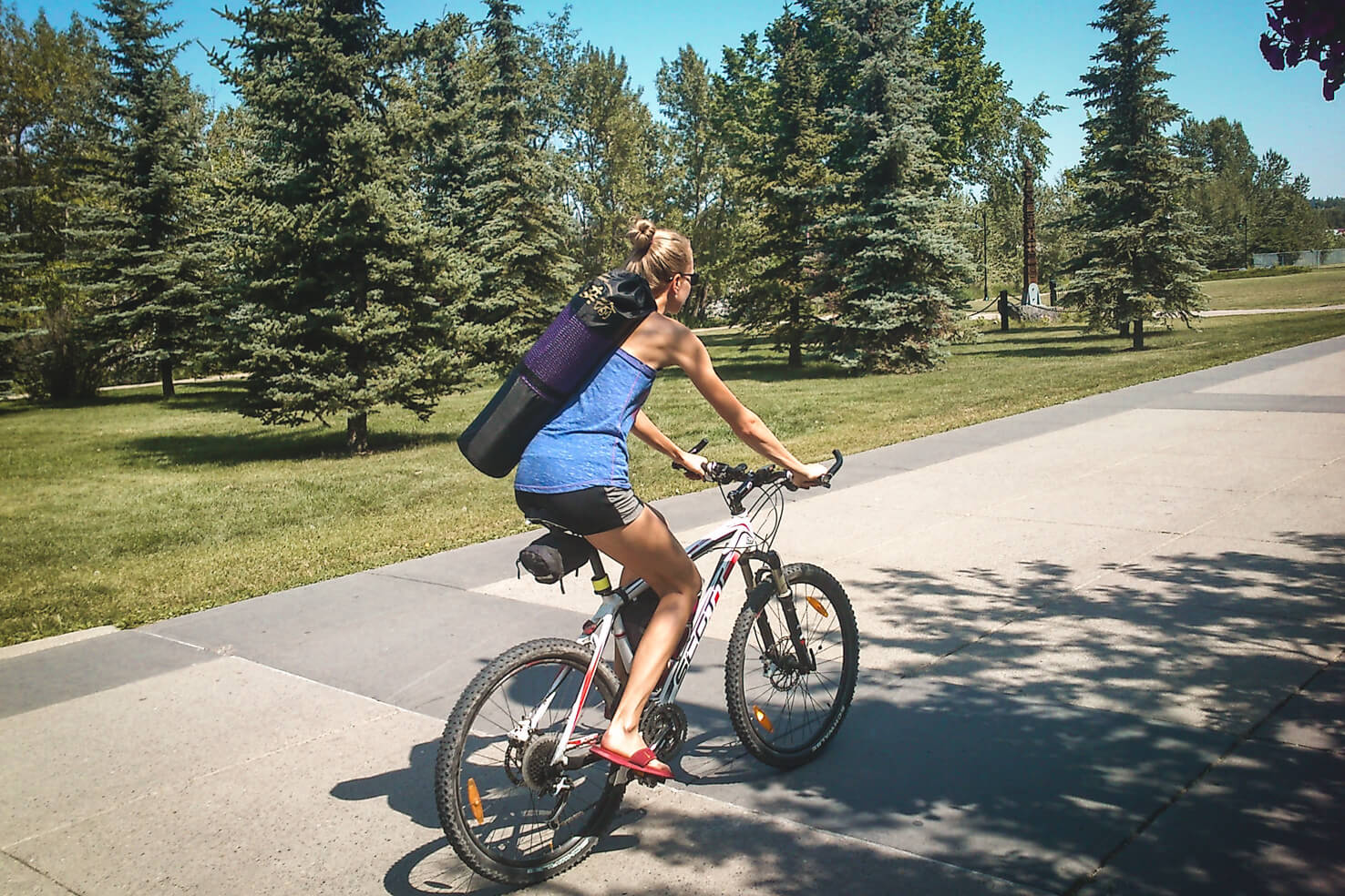 Things to do in Calgary in summer - Try yoga class in the park