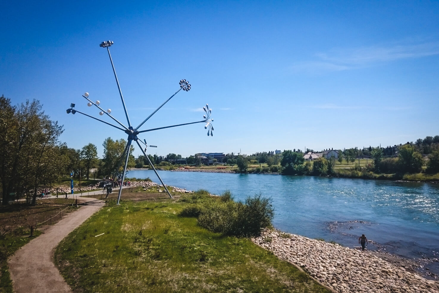 Things to do in Calgary in summer - Relax in St. Patrick's Island Park