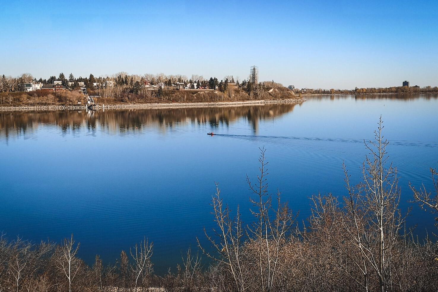 Things to do in Calgary in summer - Kayak on Glenmore reservoir