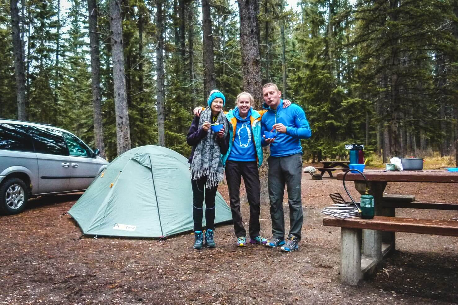 Icefields Parkway - camping in Jasper National Park
