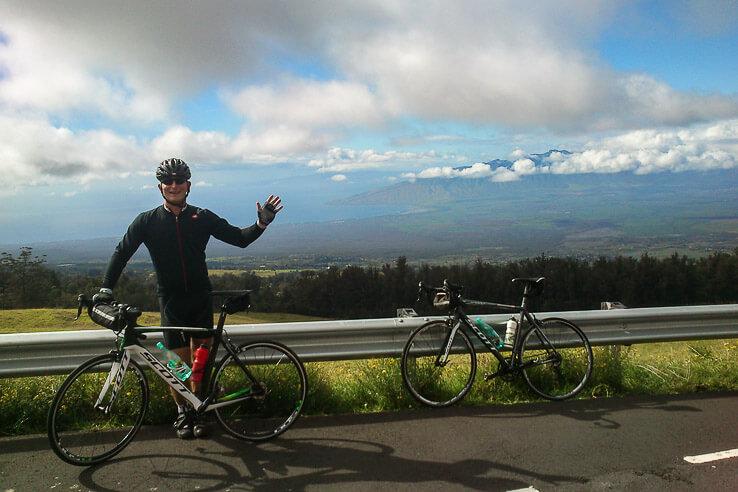 biking Haleakala volcano Maui