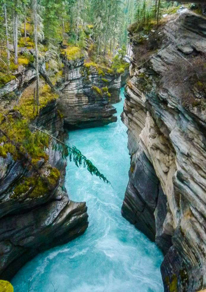 Icefields Parkway itinerary - Athabasca Falls