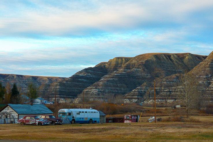 Traveling back in time in Drumheller, Alberta