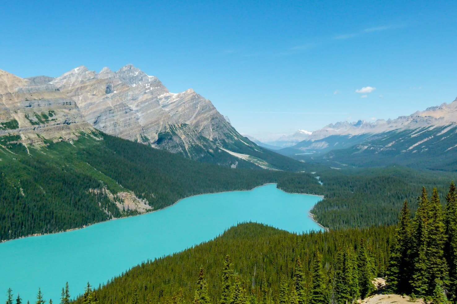 Western Canada Road Trip from Calgary to Vancouver - Peyto Lake