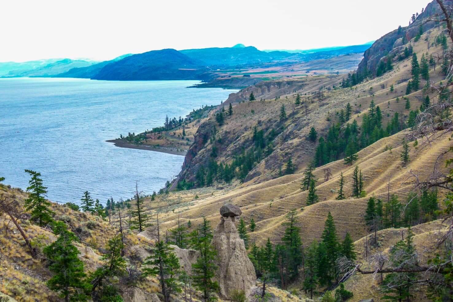 Western Canada road trip from Calgary to Vancouver - Balancing Rock in Kamloops