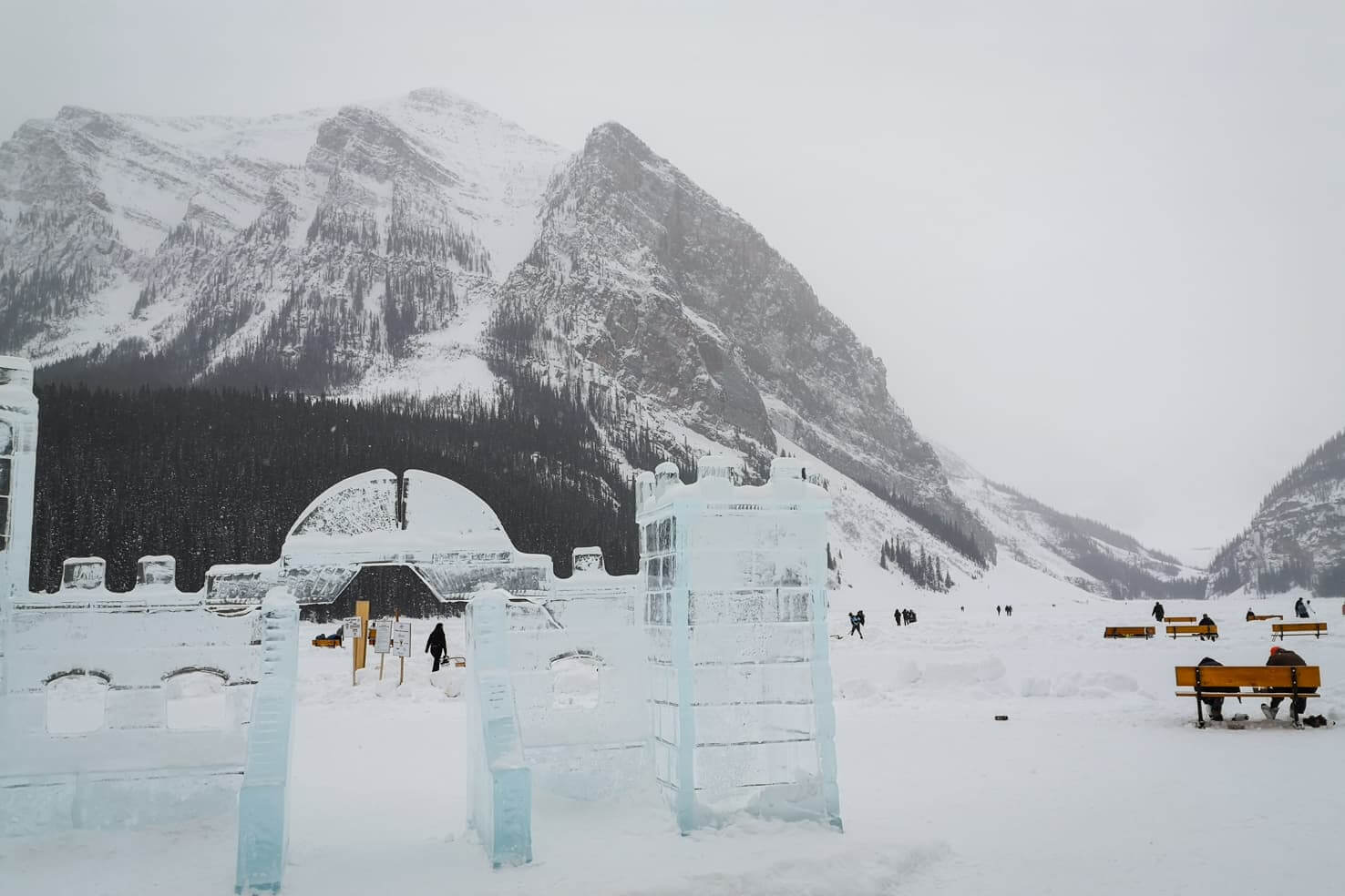 Cross country ski trails in Banff National Park - Moraine-Fairview-Lake Louise Loop