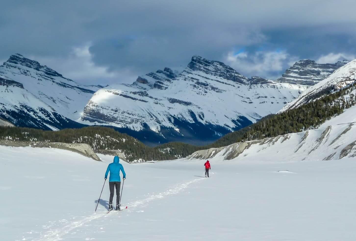 Cross country ski trails in Banff National Park - Saskatchewan Glacier