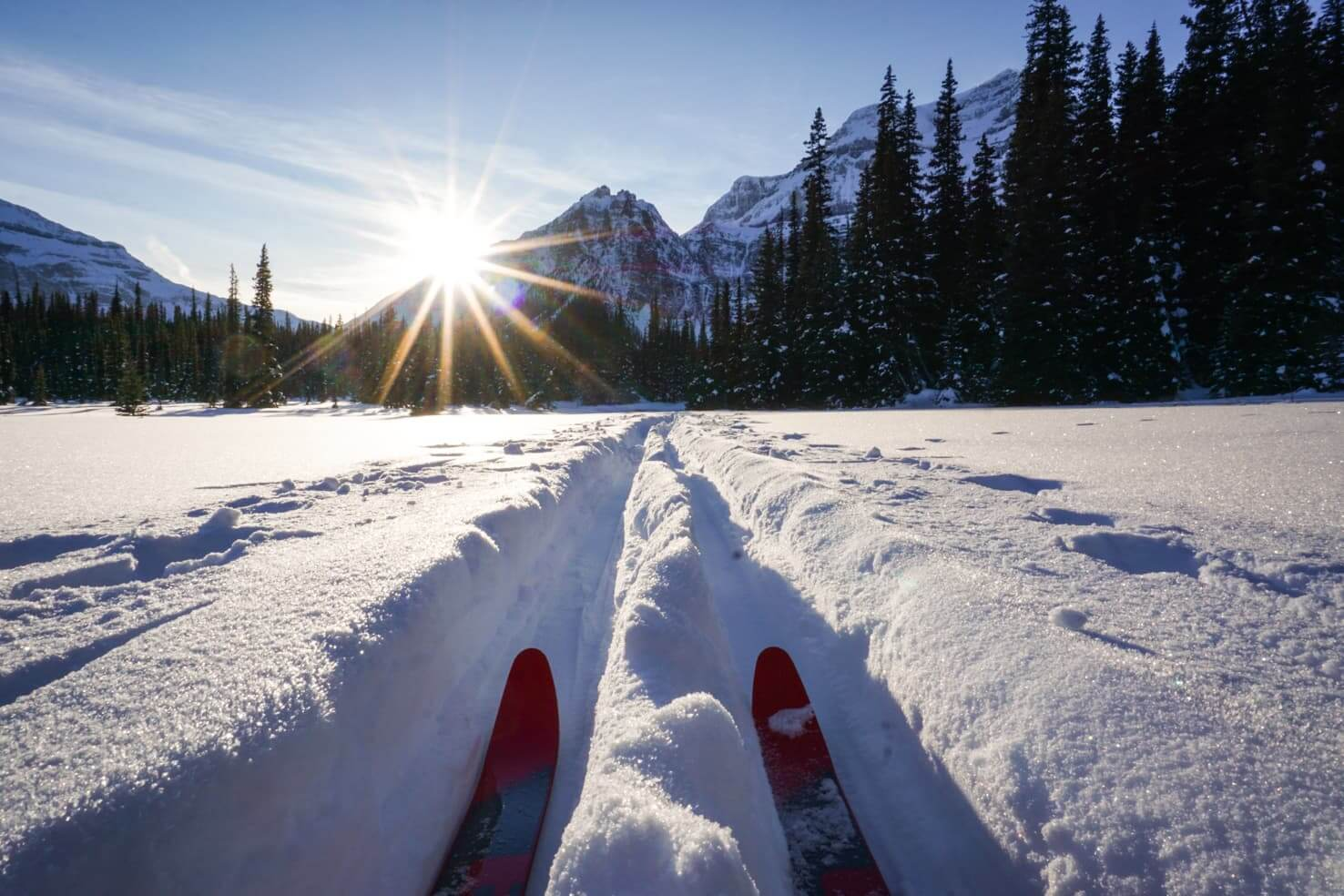 Cross country ski trails in Banff National Park - Shadow Lake