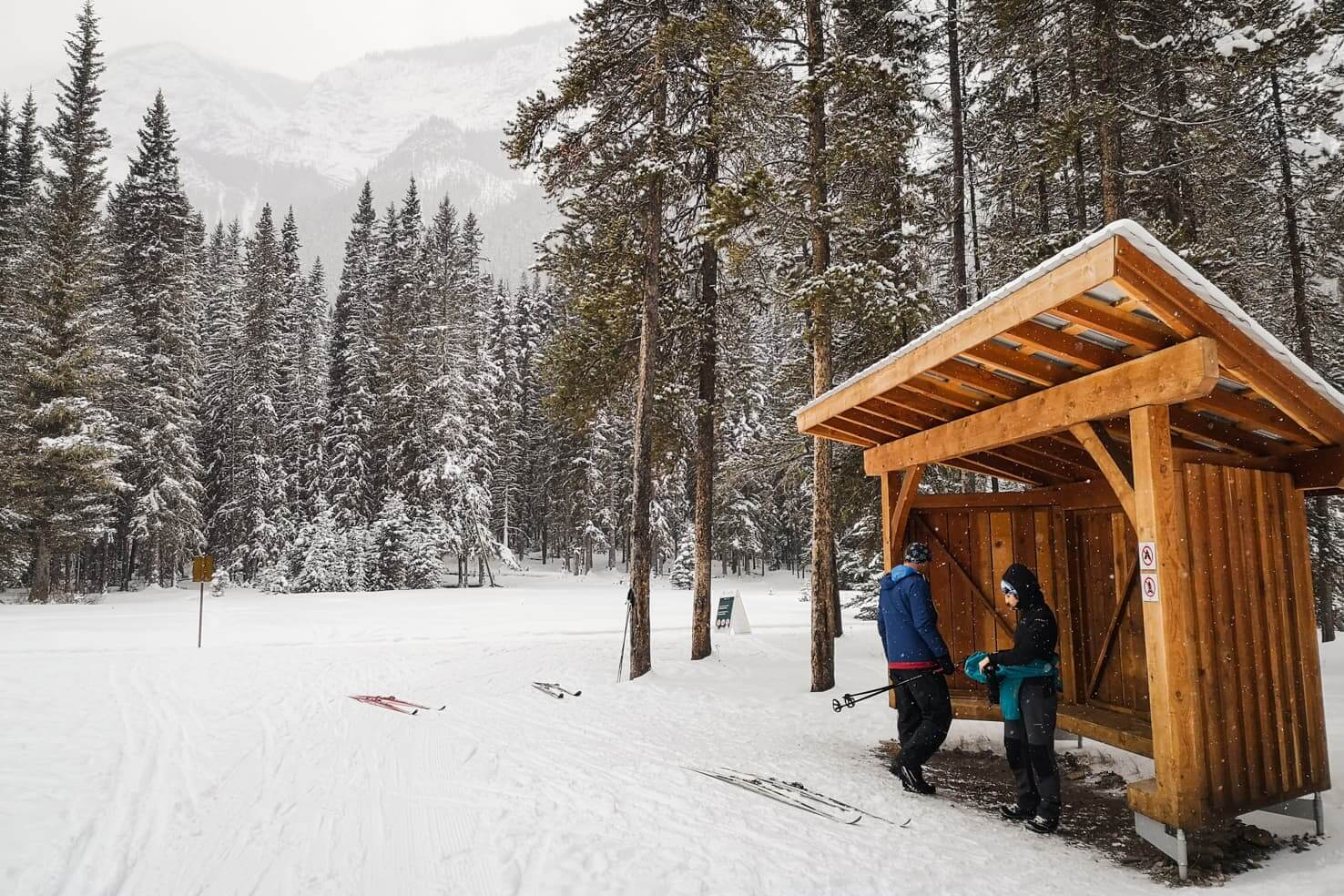 Cross country ski trails in Banff National Park - Spray River Loop in Banff