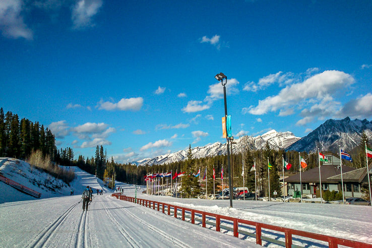 Cross country ski trails in Banff National Park area for all levels