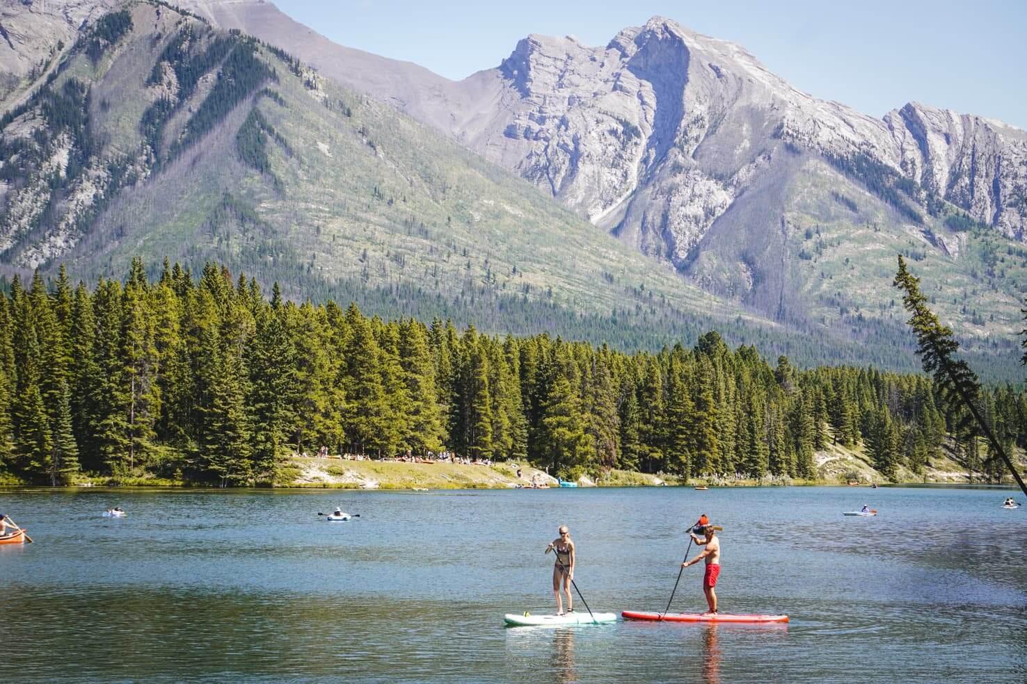 Bike trails around Banff - Johnson Lake