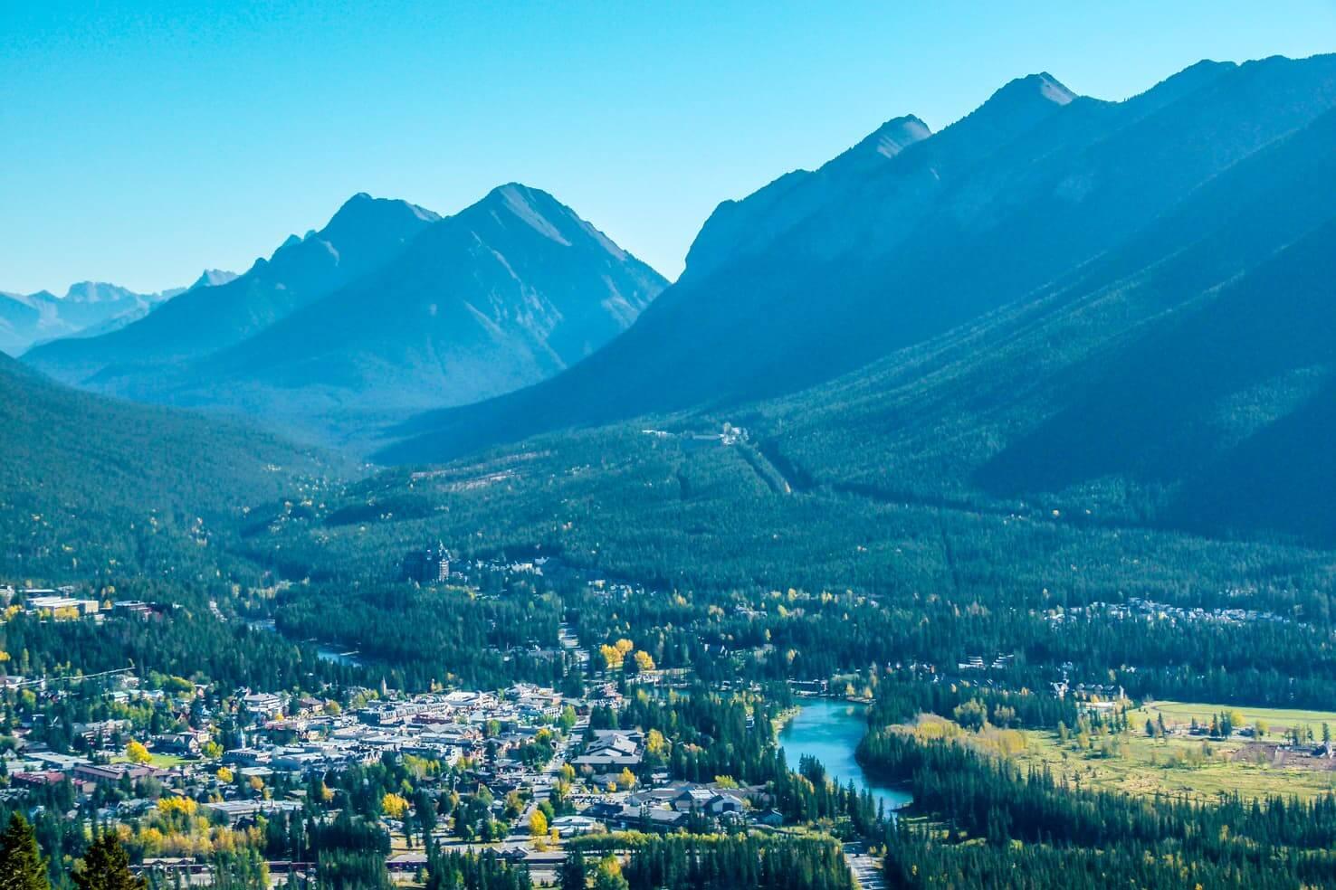 Bike trails around Banff - Mount Norquay