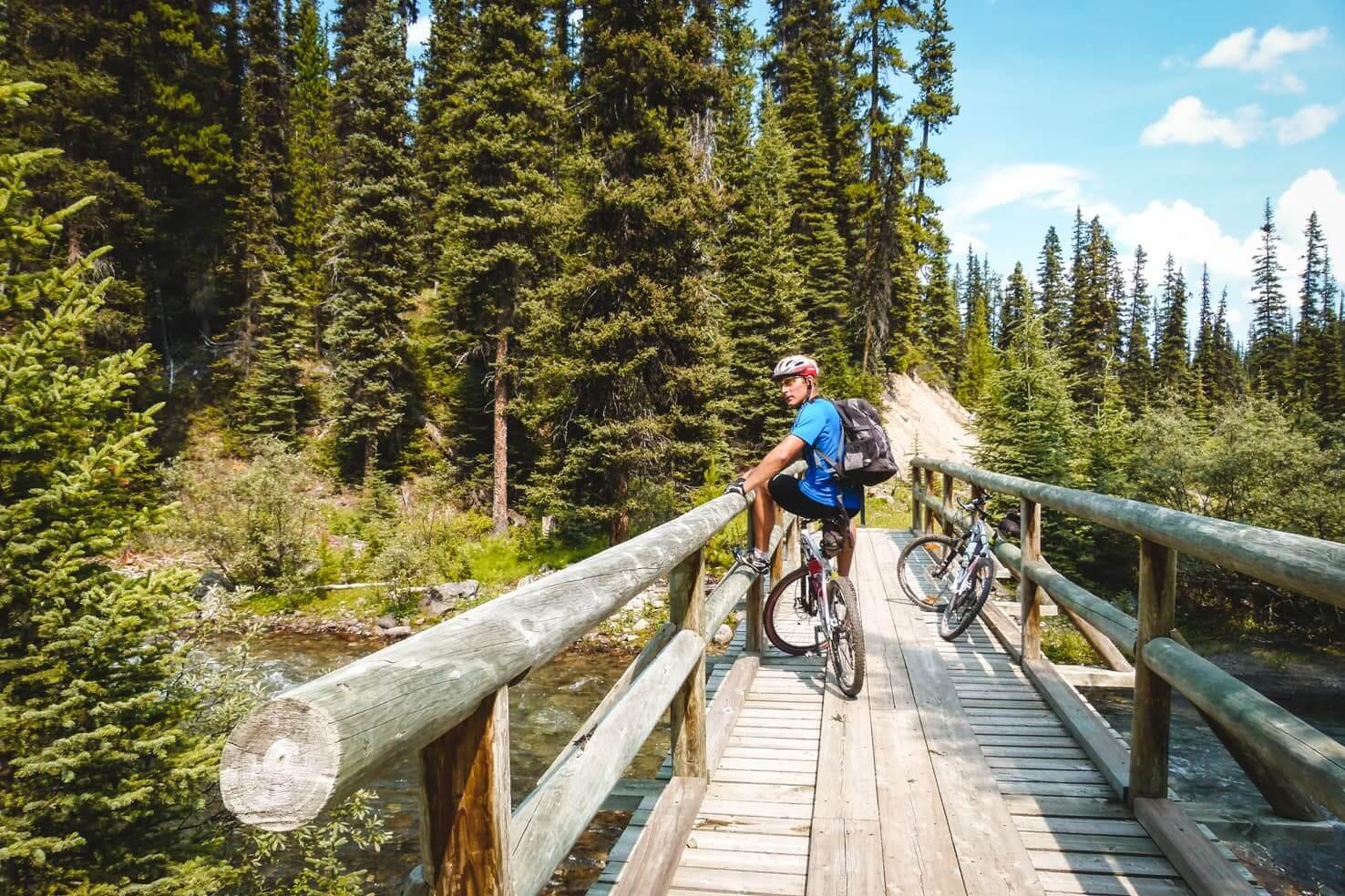 Bike trails around Banff - Redearth Creek to Shadow Lake