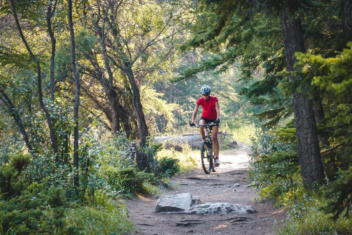 Bike trails around Banff - Tunnel Mountain