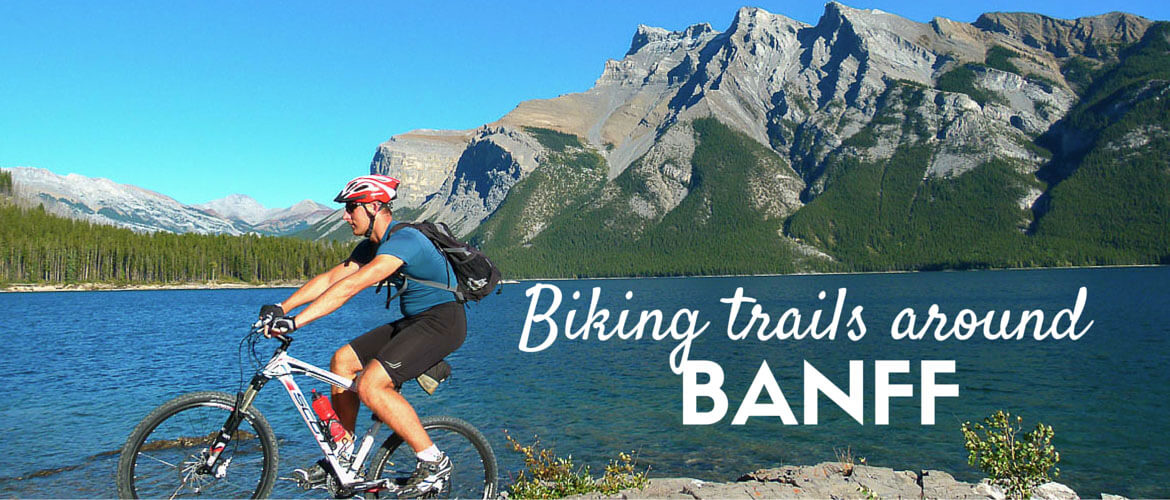 Biking trails around Banff, Banff national park, Canada