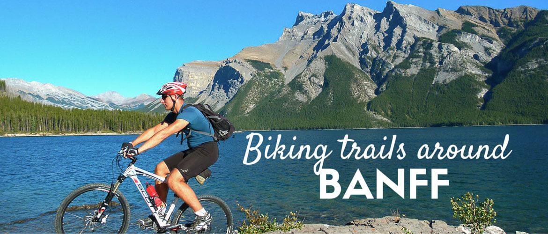 Biking trails around Banff, Banff national park, Canada