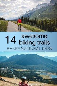 Biking trails around Banff national park