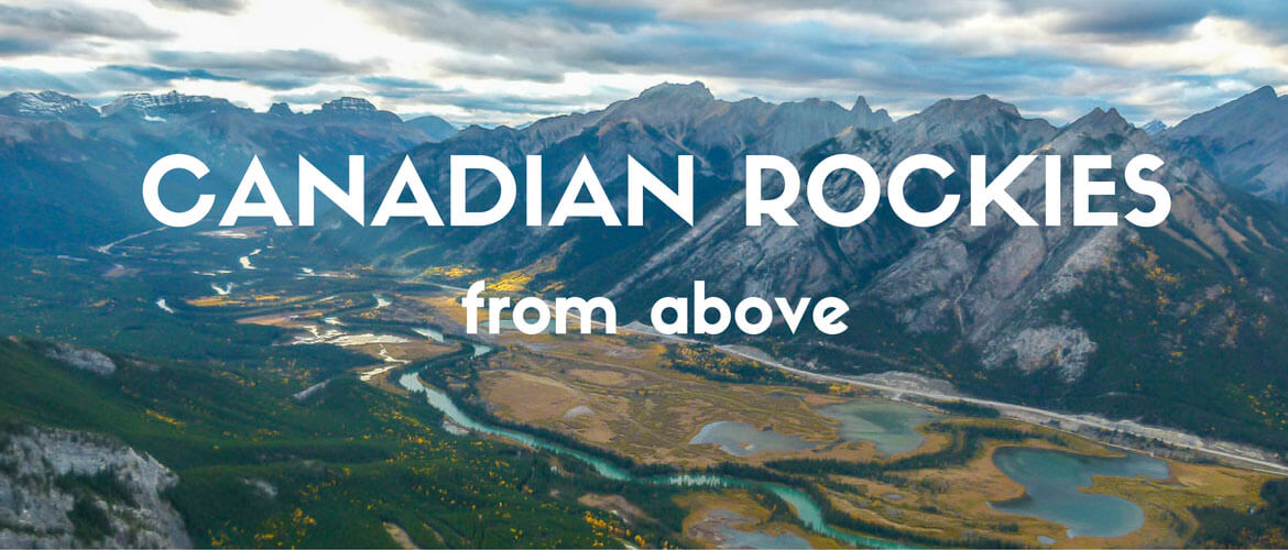 Canadian Rockies from above (+video)