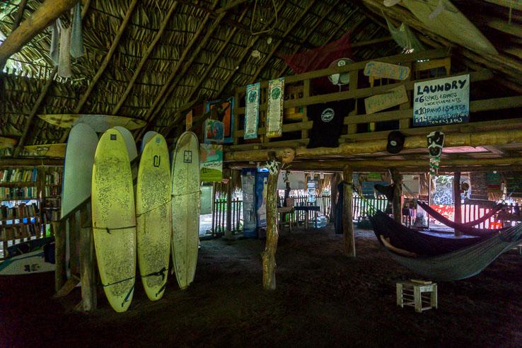 Surfing, beach run and turtles on Jiquilillo beach, Nicaragua