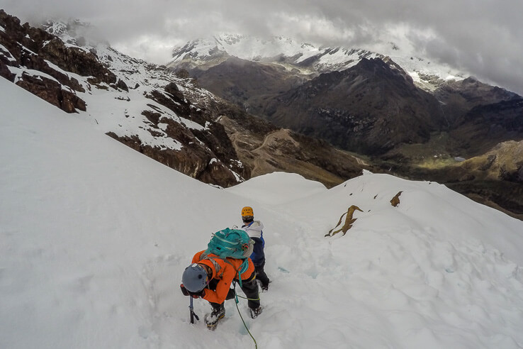 First mountaineering experience Mateo in Peru