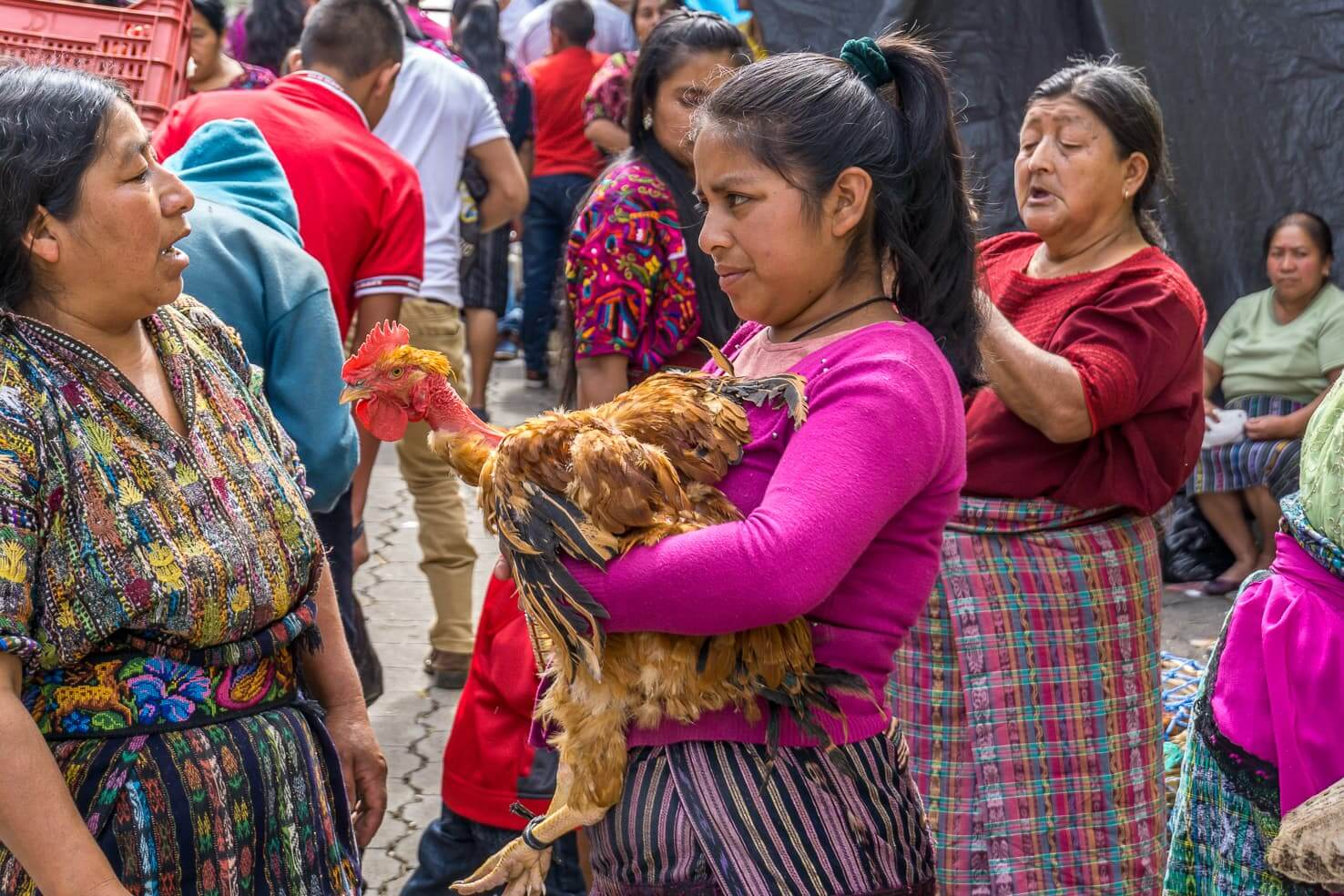 Chichicastenango - The biggest colorful market of Mayan culture