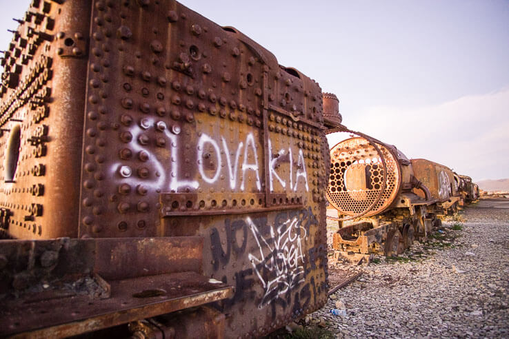 Month 8 recap of our trip around the world - Train Cemetery, Bolivia