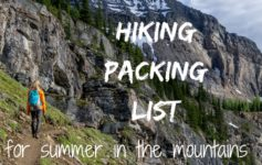 Hiking packing list for summer in the mountains