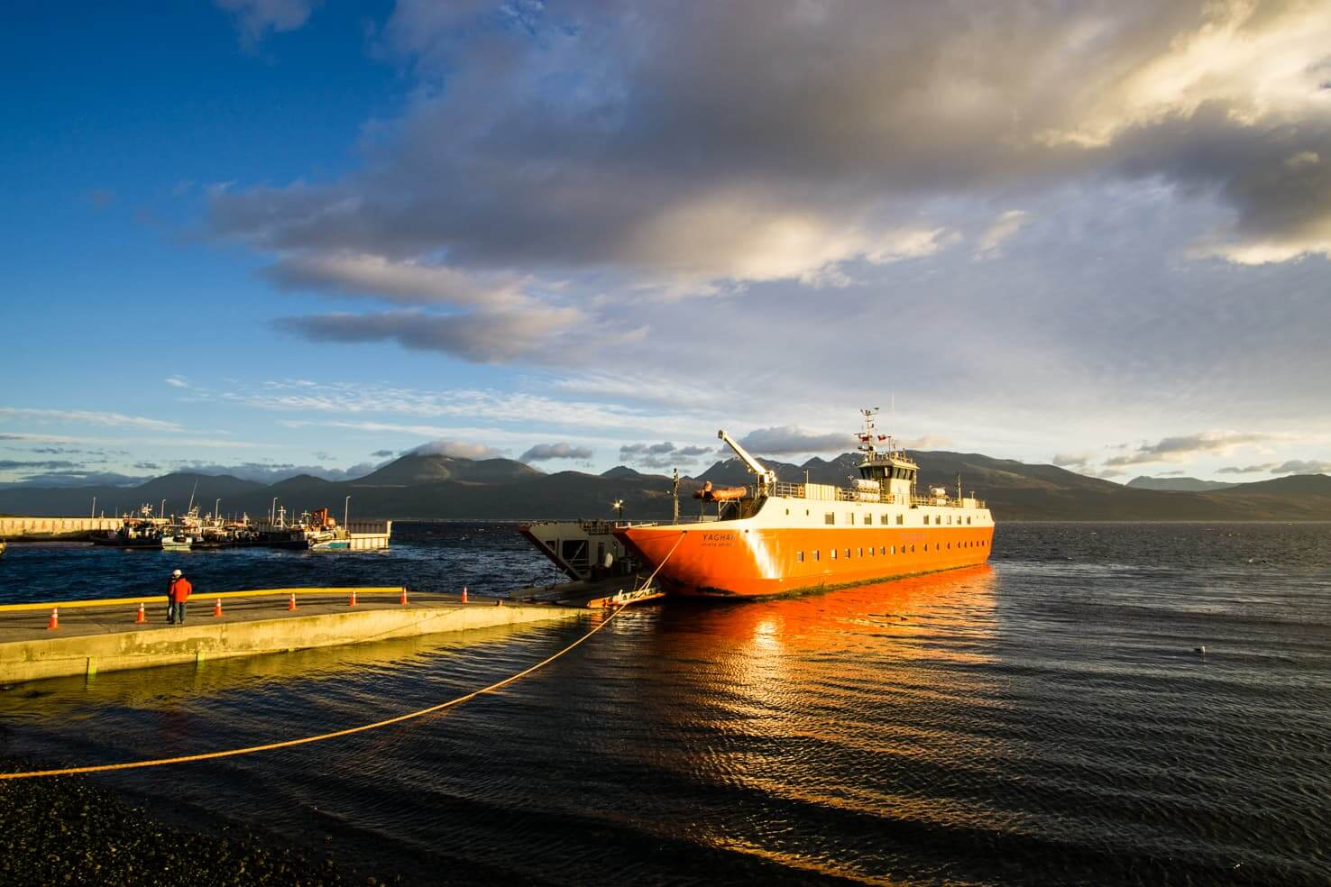 Puerto Williams, Chile - southernmost city in the world - Yaghan ferry