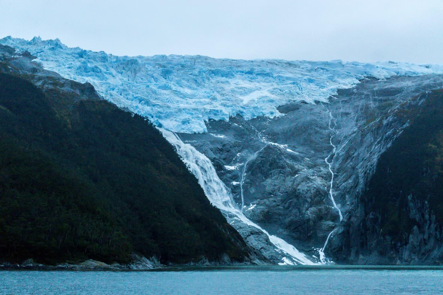 Puerto Williams, Chile - southernmost city in the world - Glacier Romanche