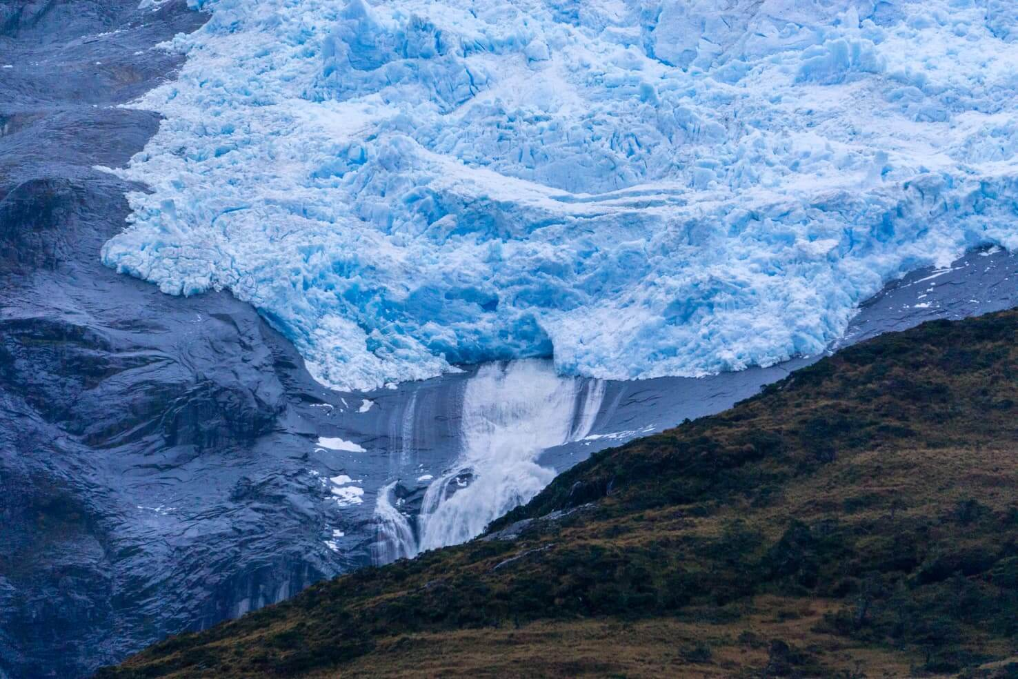 Puerto Williams, Chile - southernmost city in the world - Glacier Romanche