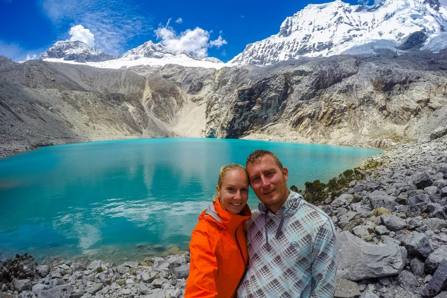 Hiking Laguna 69 Peru, the bluest lake in the Andes
