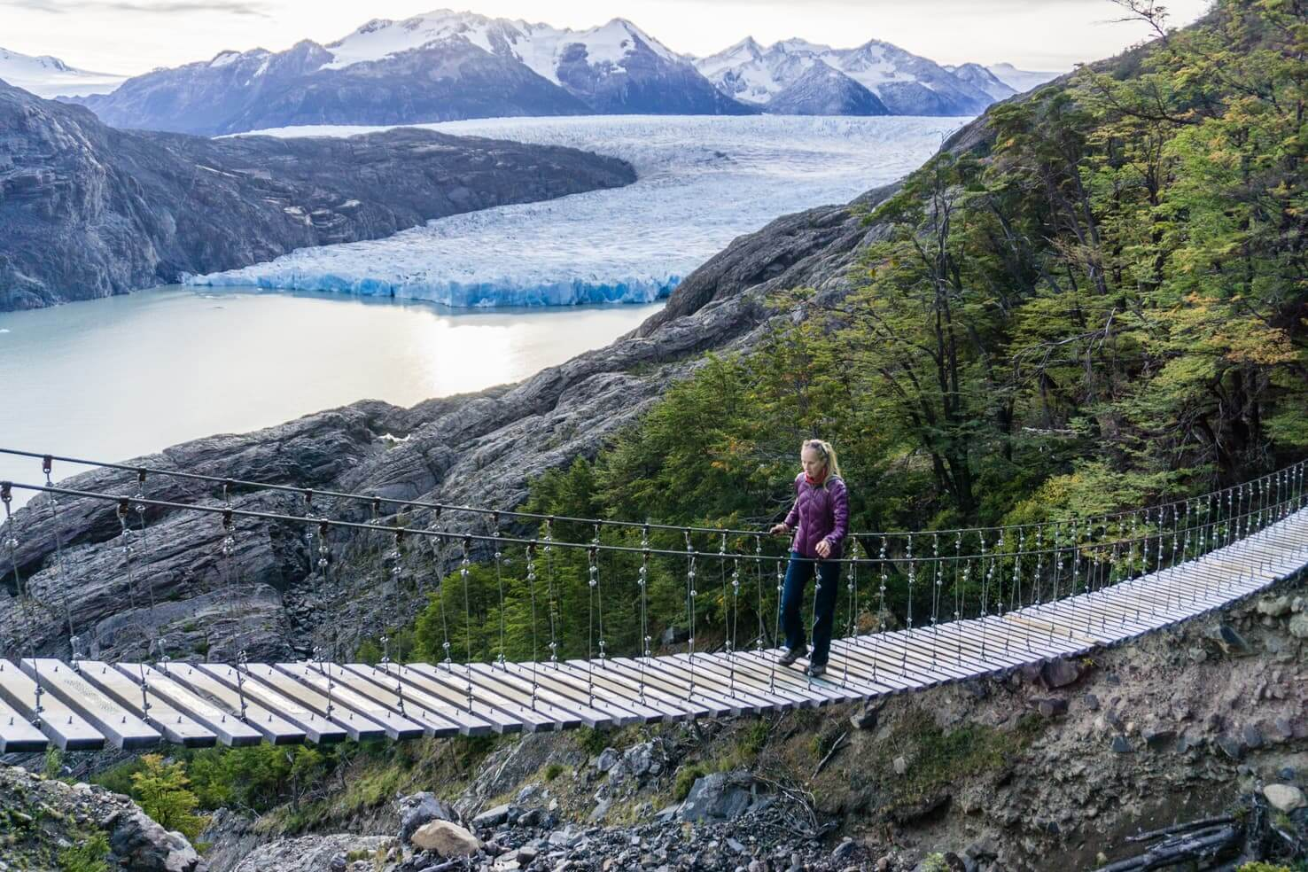 Trekking Torres del Paine W trek Patagonia, Chile Grey Glacier