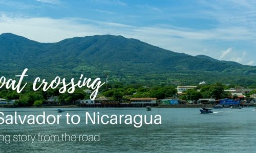 Boat crossing from La Union, El Salvador to Potosi, Nicaragua