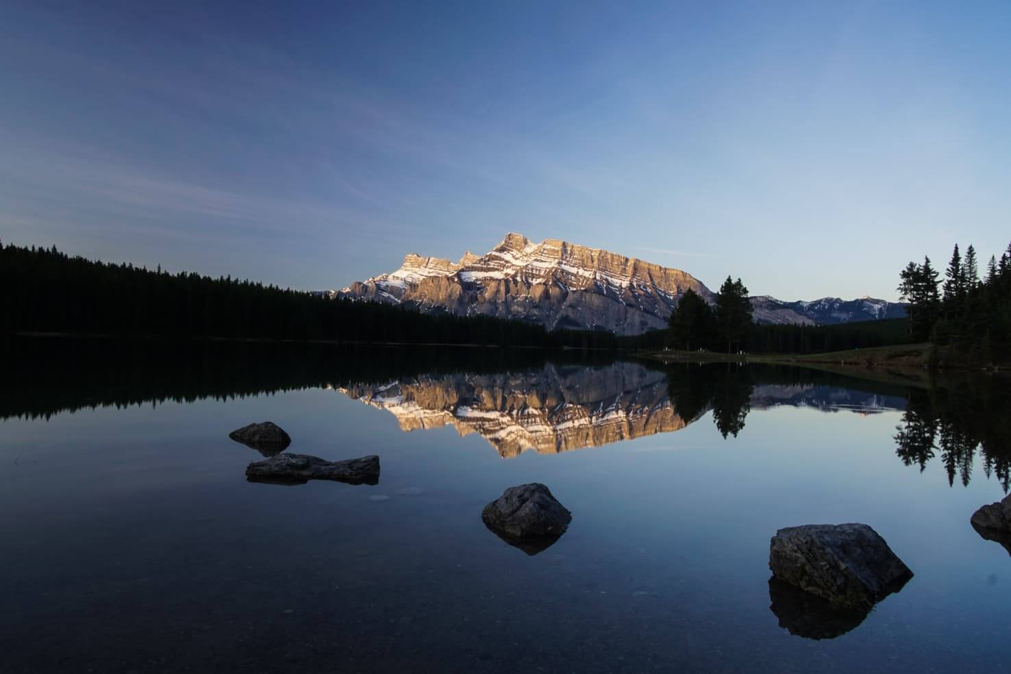100 best things to do in Banff National Park, Canada - Catch sunrise at Two Jack Lake