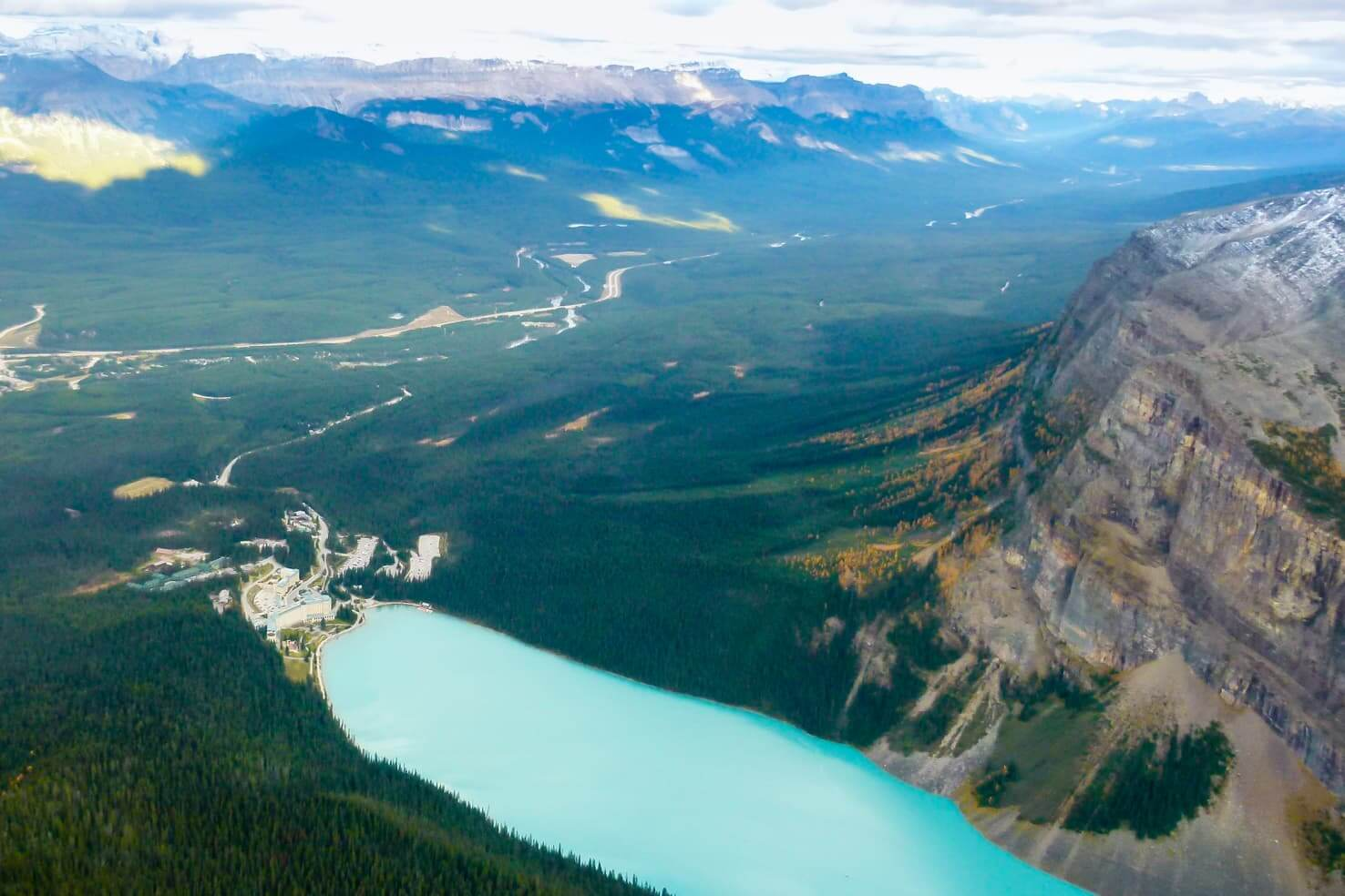 100 best things to do in Banff National Park, Canada - Get a bird's eye view of Lake Louise