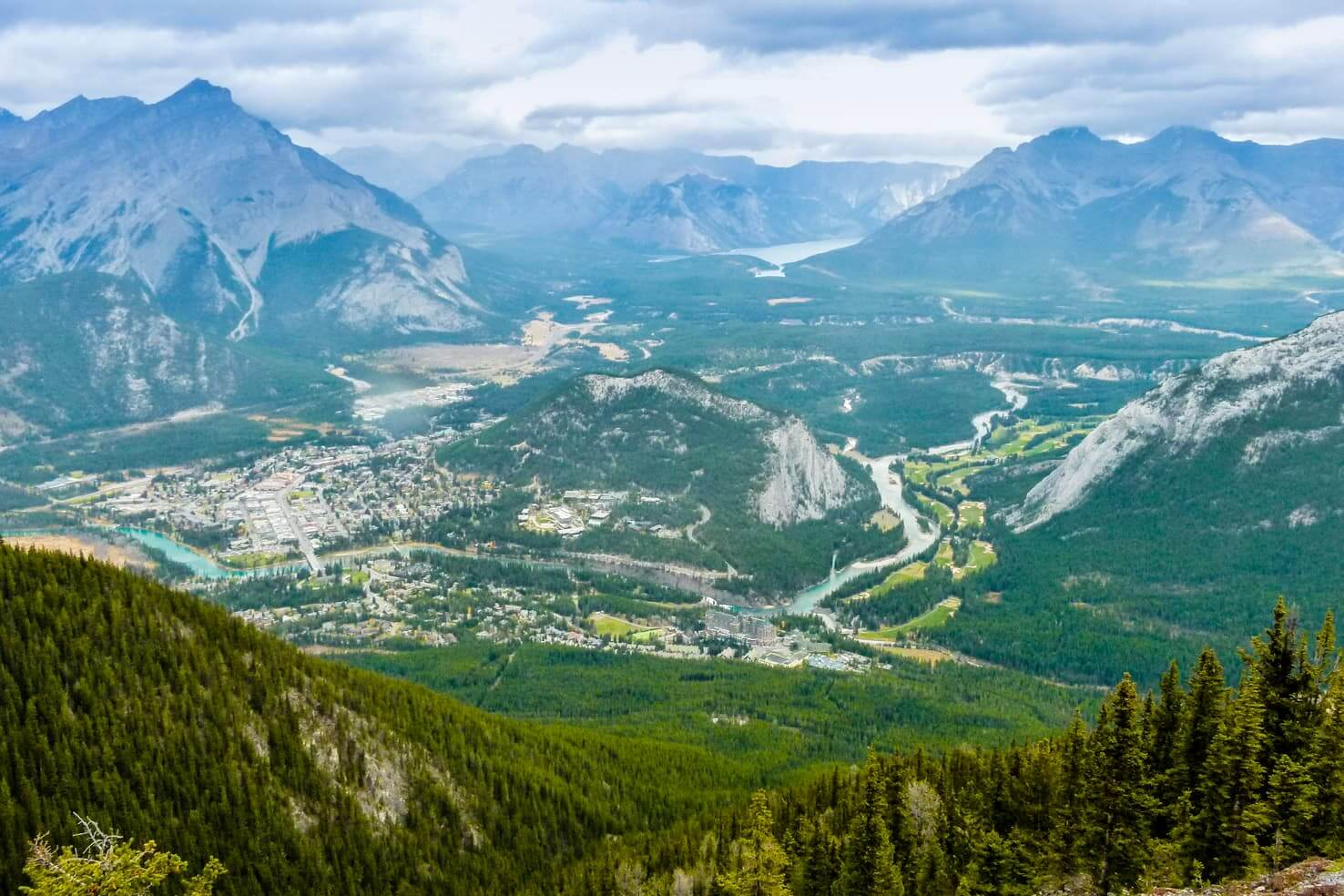 100 best things to do in Banff National Park, Canada - Hike up the Sulphur Mountain for a view of Banff