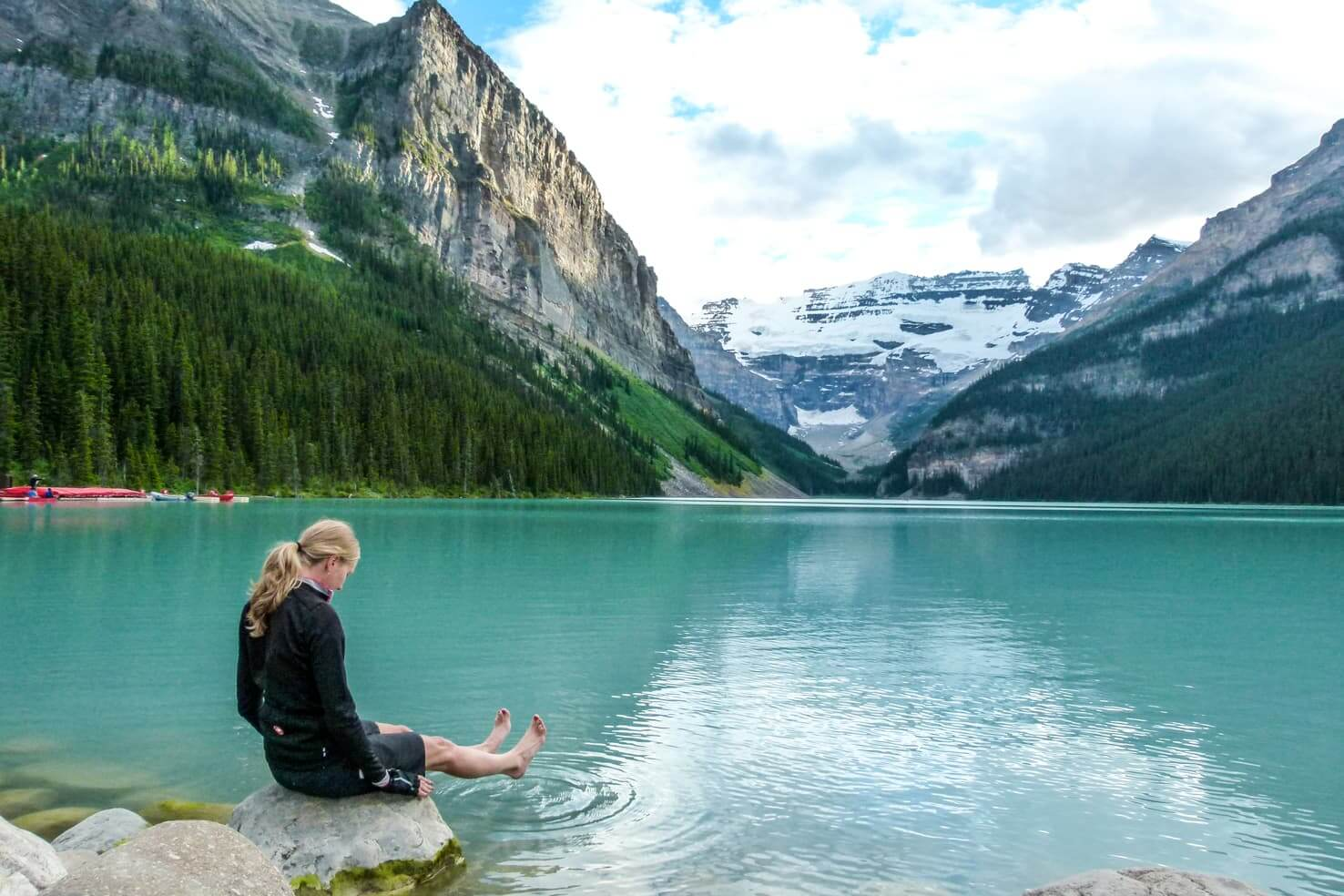 100 best things to do in Banff National Park, Canada - Jump in the glacial lake