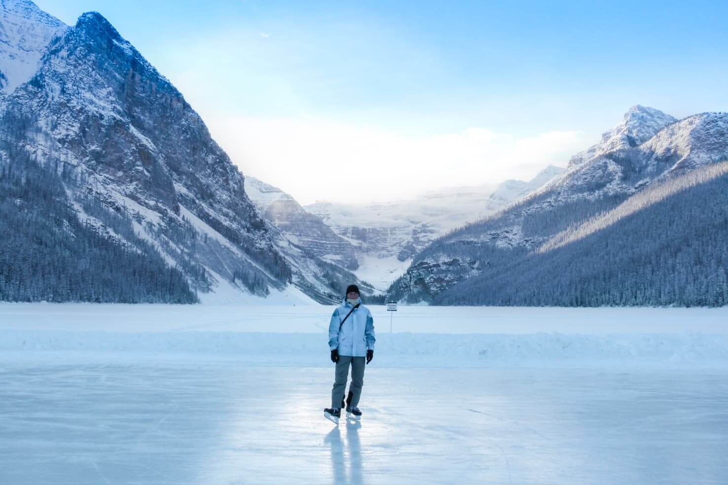 100 best things to do in Banff National Park, Canada - Play ice hockey on the frozen lake
