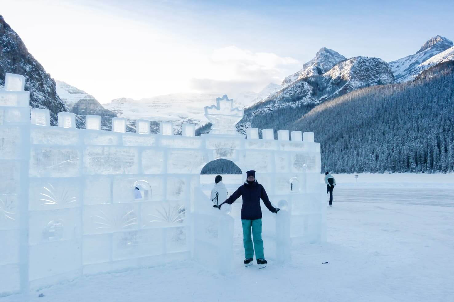 100 best things to do in Banff National Park, Canada - See ice castle & sculptures in Lake Louise