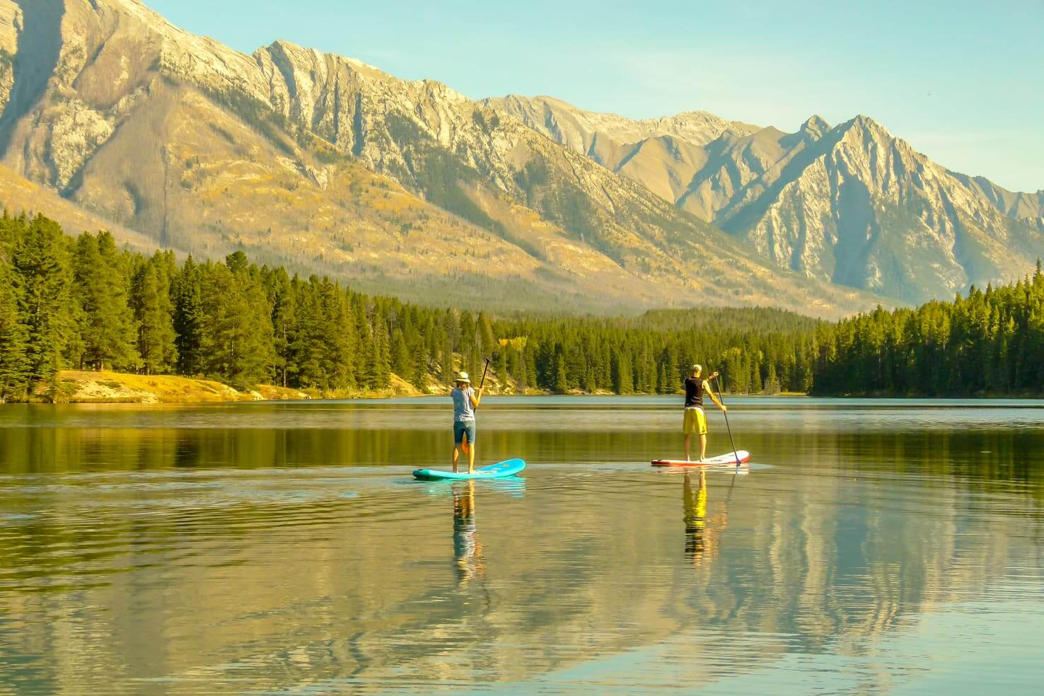 100 best things to do in Banff National Park, Canada - Stand up paddleboard on pristine lakes