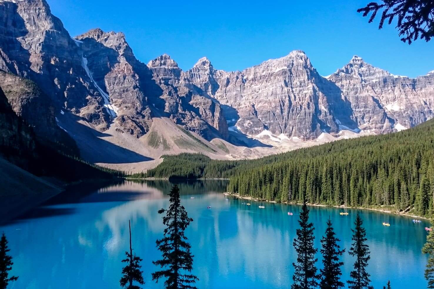 Icefields Parkway itinerary - Moraine Lake