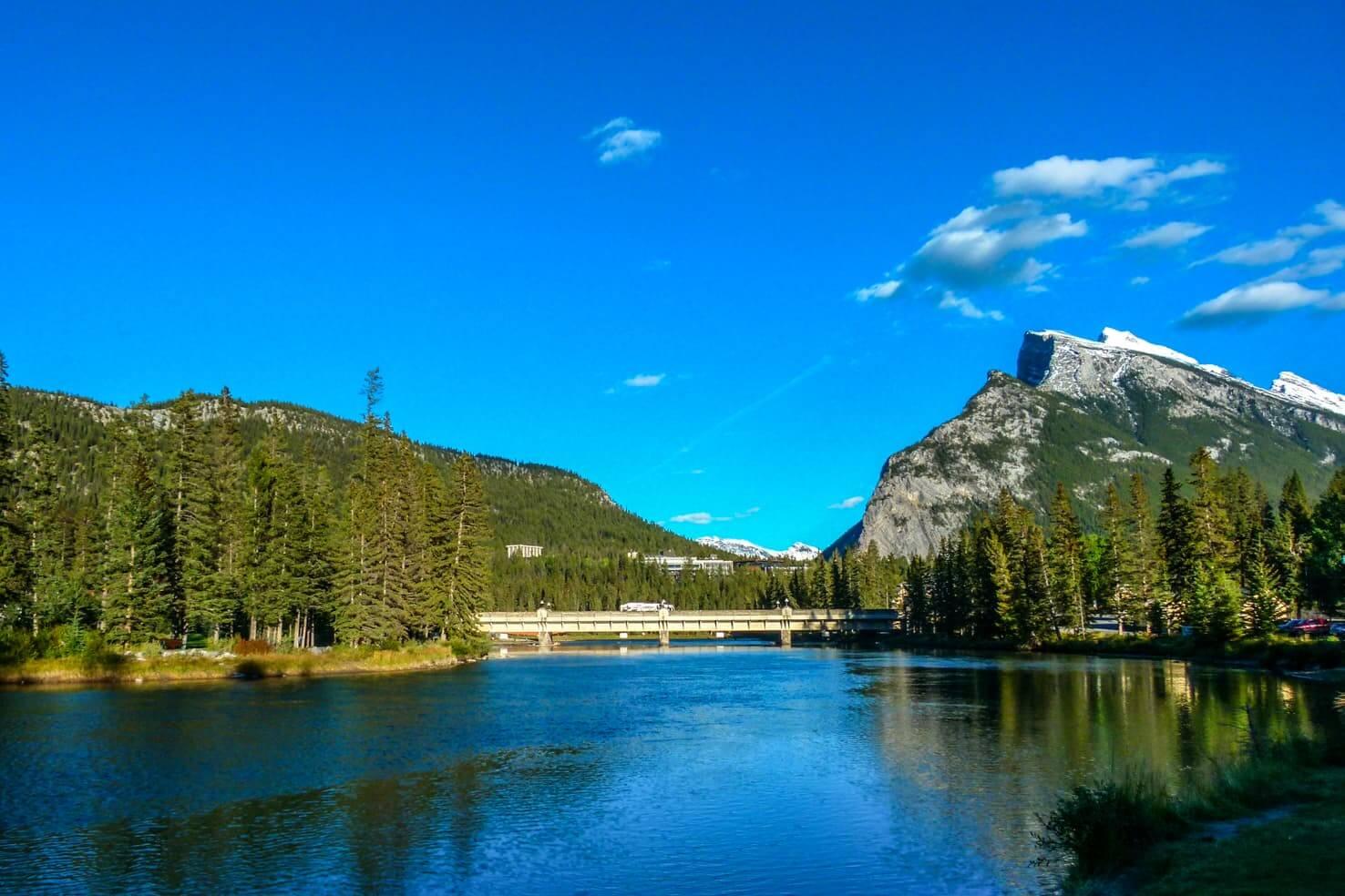 A summer evening at Moraine Lake, Banff National Park