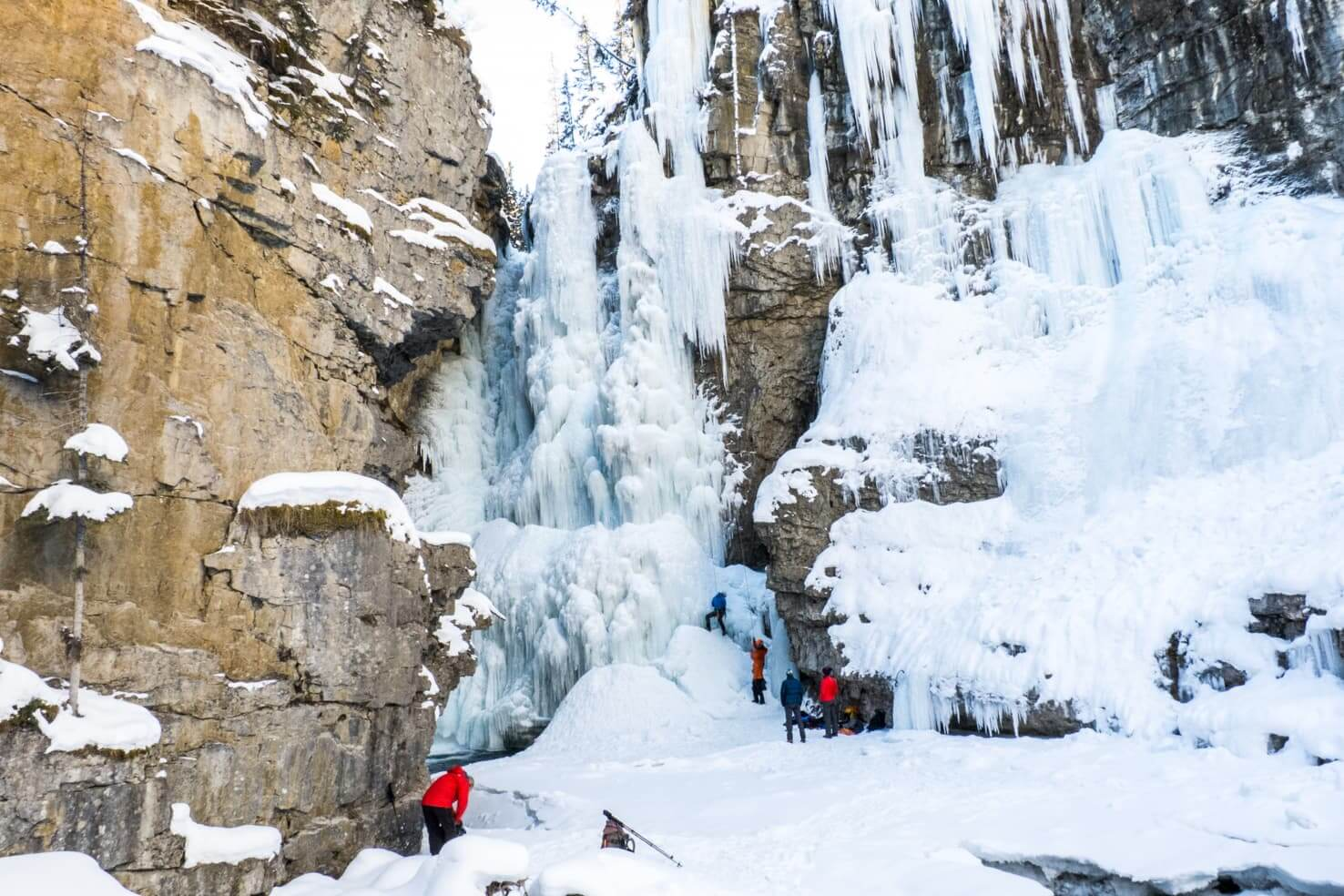 100 best things to do in Banff National Park - Experience ice walk in Johnston Canyon