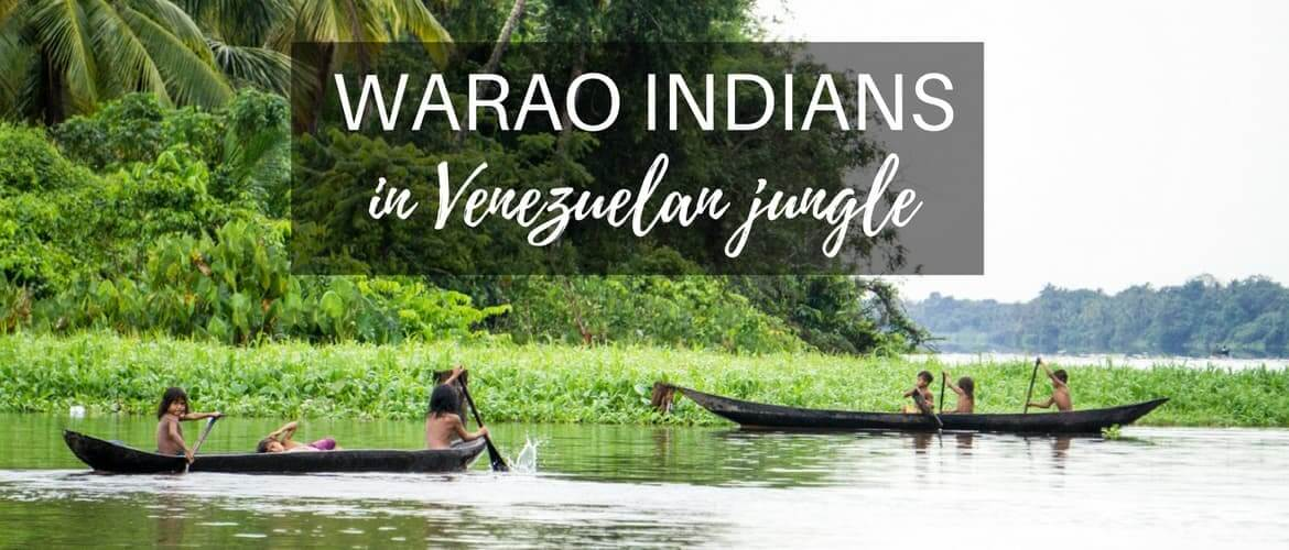 Daily life of Warao Indians in Venezuelan jungle