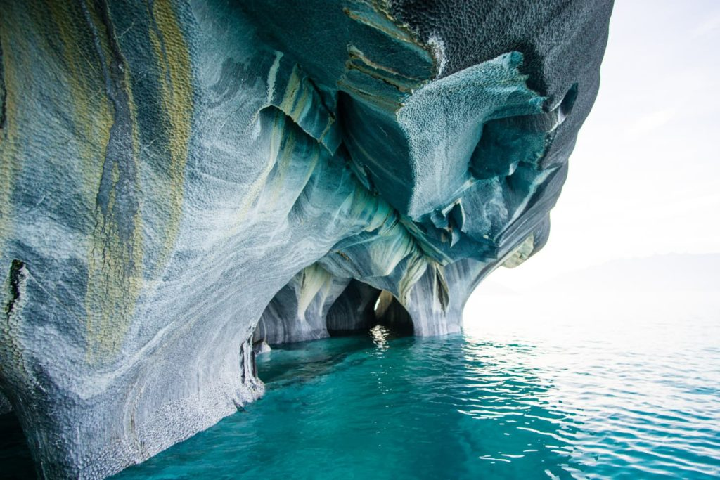 50 insane pictures of Chile to inspire your travels - Marble Caves along Carretera Austral, Patagonia, Chile