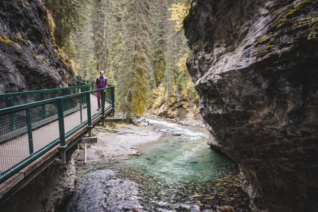 Johnston Canyon hike to Ink Pots