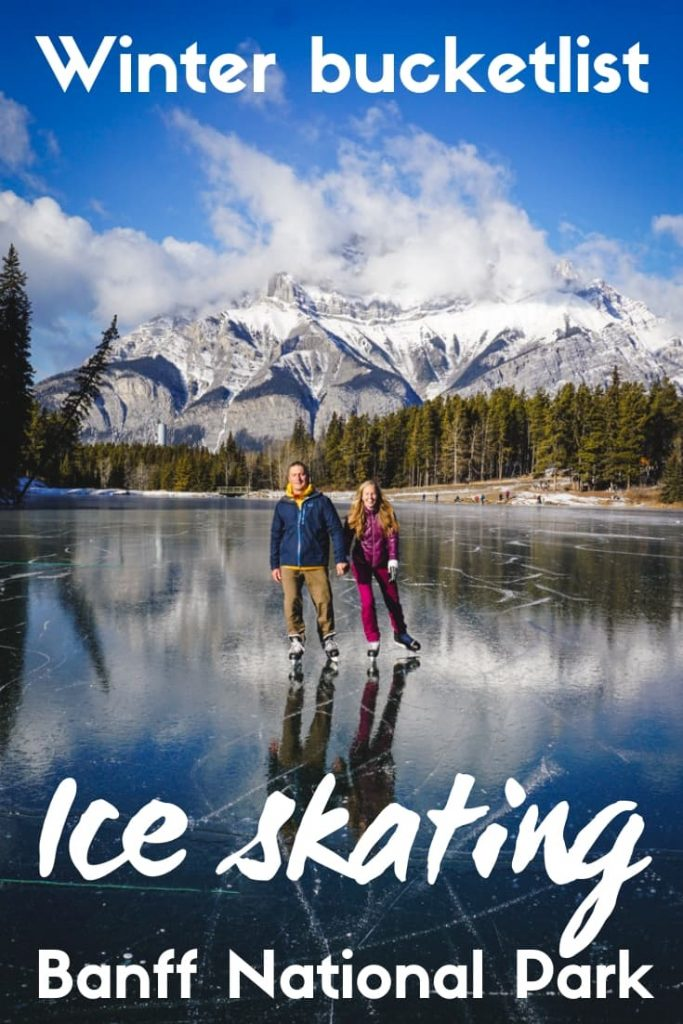 Ice skating in Banff National Park