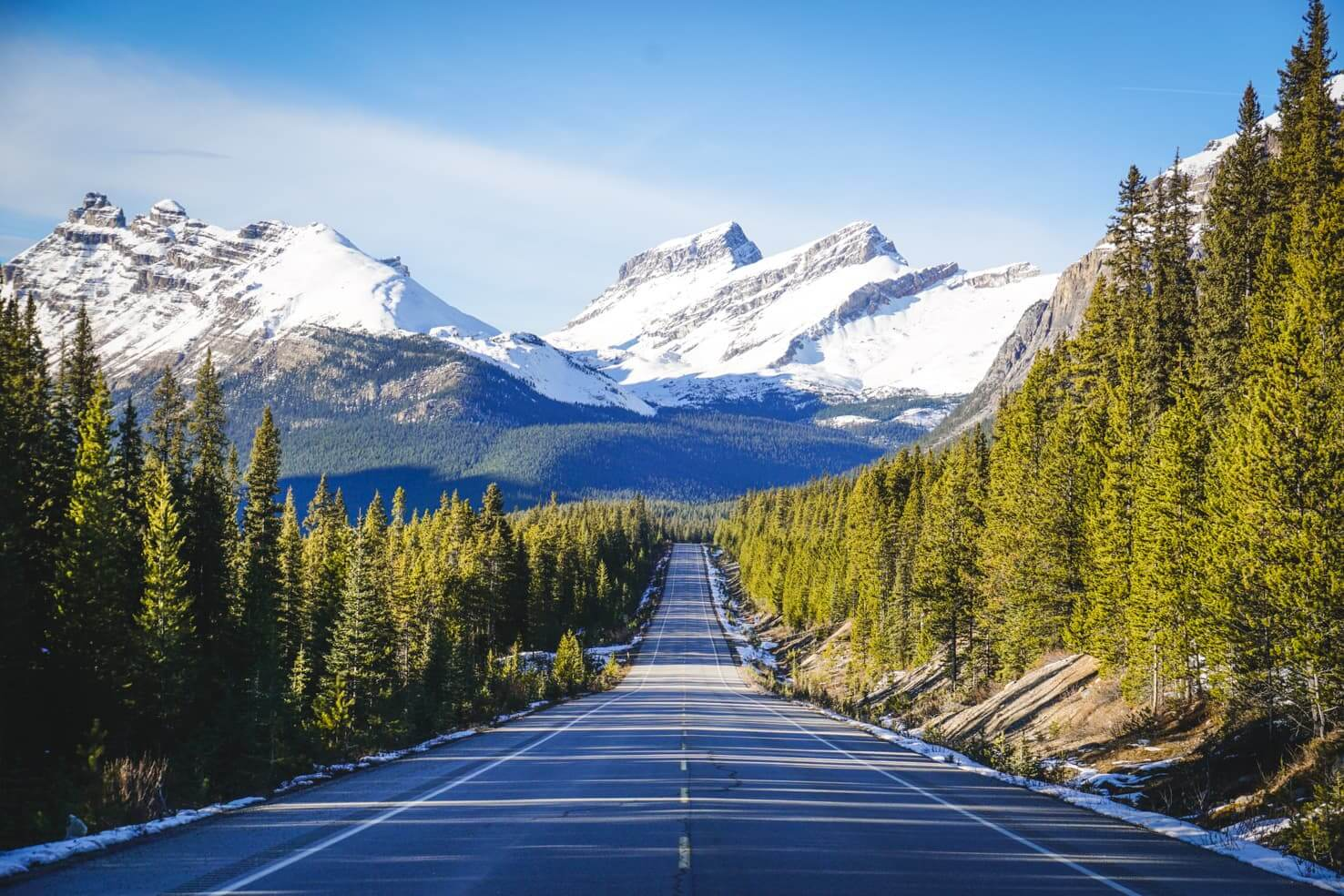 Western Canada road trip from Calgary to Vancouver - road trip on Icefields Parkway