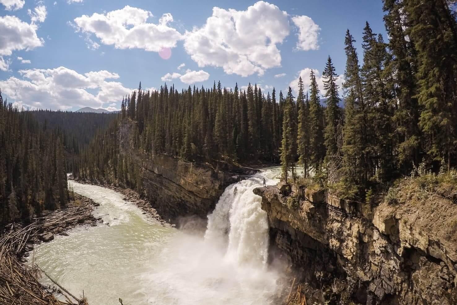 Adventure travel guide to Jasper National Park - Snake Indian Falls
